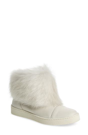 Pedro Garcia Priya Genuine Shearling Sneaker Boot, White