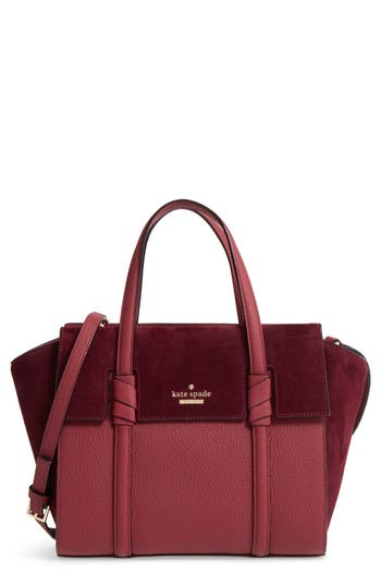 Kate Spade New York Daniels Drive - Small Abigail Suede & Leather Tote -
