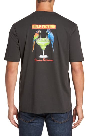 Big & Tall Tommy Bahama Gulp Fiction T-Shirt, Black