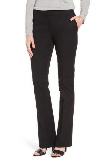 Nordstrom Signature Stretch Blend Slim Flare Leg Pants