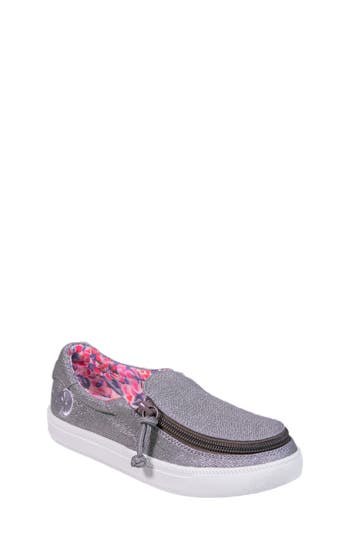 Girls Billy Footwear Zip Around Sparkly Low Top Sneaker