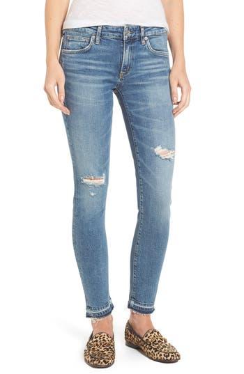 Agolde Lara Ankle Skinny Jeans, 7 - Blue