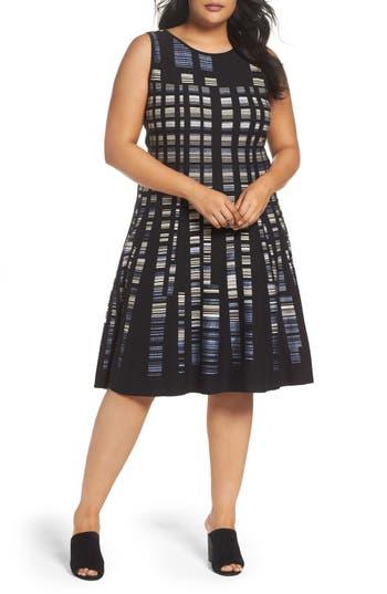 Plus Size Nic + Zoe Crystal Cove Sleeveless Knit Dress, Black