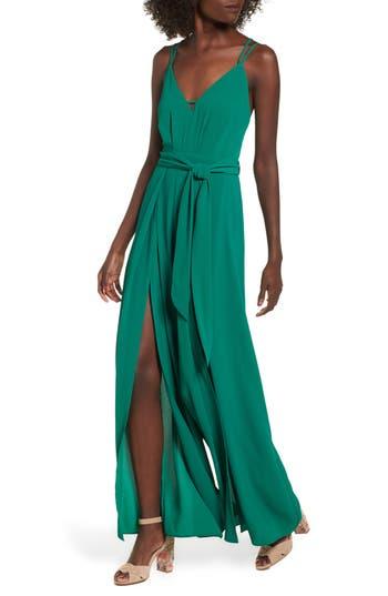 Women's Socialite Split Leg Jumpsuit, Size X-Small - Green