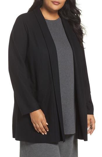 Plus Size Eileen Fisher Boiled Wool Jacket, Black