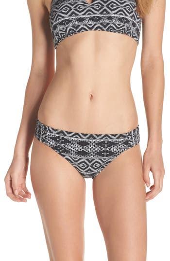 La Blanca Designer Jeans Side Shirred Bikini Bottoms, Black