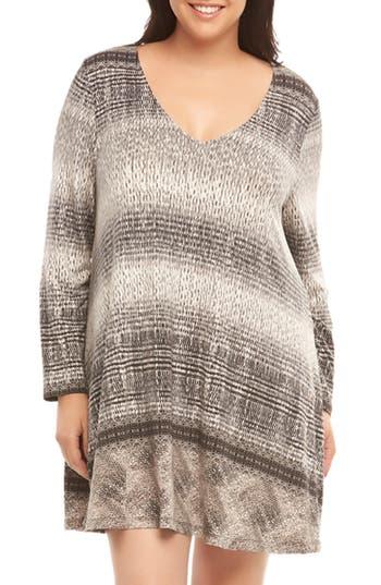 Plus Size Tart Suzi Knit A-Line Dress, Grey