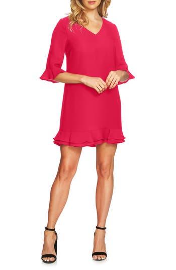 Women's Cece Kate Ruffle Shift Dress, Size 0 - Pink