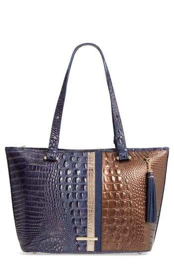 Brahmin Andesite Orba Medium Asher Leather Tote - Blue