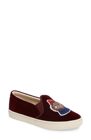 Soludos Velvet Sneaker, Burgundy