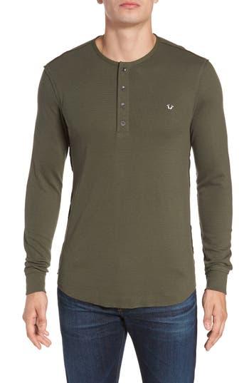 True Religion Brand Jeans Henley T-Shirt, Green