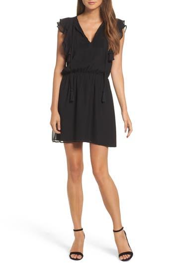 Greylin Yara Ruffle Dress, Black
