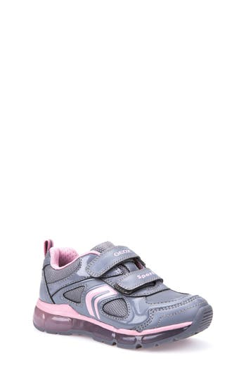 Girls Geox Jr Android 2 LightUp Sneaker Size 8US  24EU  Grey