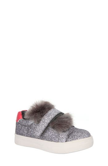 Girls Nina Sunshine Glittery Faux Fur Sneaker