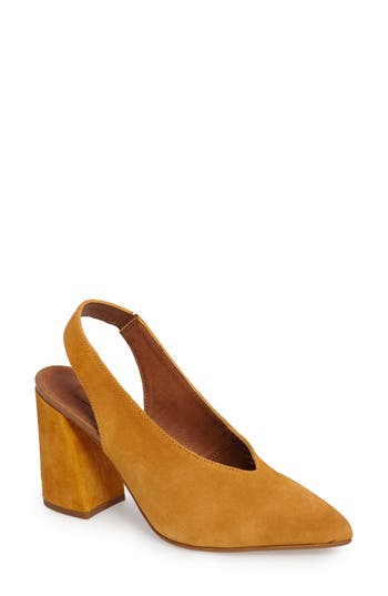 Topshop Georgia Slingback Pump - Yellow