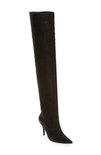 Jeffrey Campbell Galactic Thigh High Boot- Black