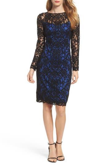 Tadashi Shoji Lace Embroidered Sheath Dress, Blue