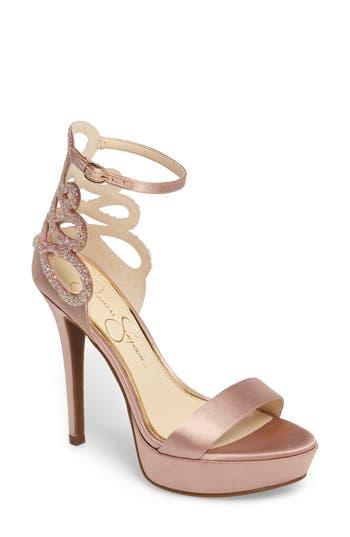 Jessica Simpson Bayvinn Platform Sandal- Beige