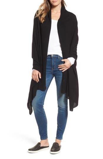 Women's White + Warren Travel Cashmere Wrap, Size One Size - Black