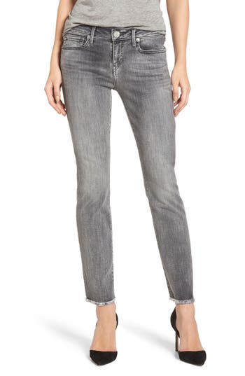 True Religion Brand Jeans Sara Crop Cigarette Jeans, Grey