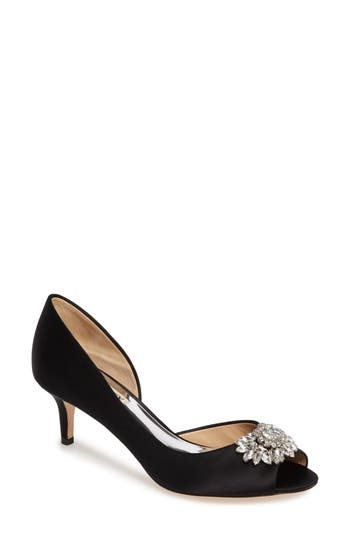 Badgley Mischka Macie Peep Toe D-Orsay Pump- Black