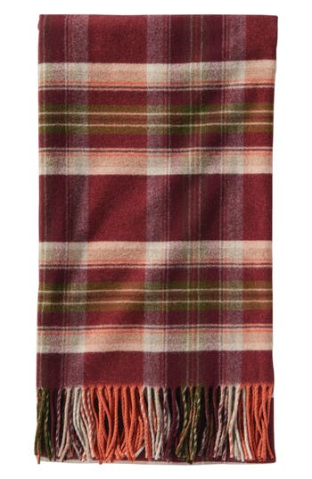 Pendleton Fifth Ave Wool Throw, Size One Size - Red