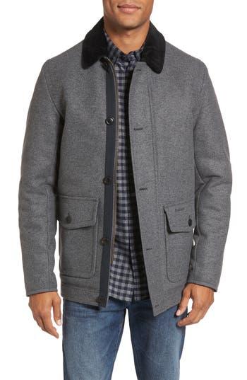 Barbour Chingle Wool Blend Deck Jacket, Grey