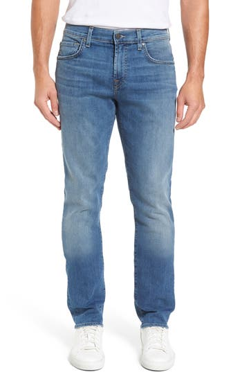7 For All Mankind The Straight Slim Straight Leg Jeans, Blue