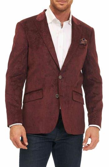 Big & Tall Robert Graham Red Spruce Sport Coat, Burgundy