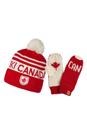 Helly Hansen Going For Gold Knit Cap & Mittens Gift Set -