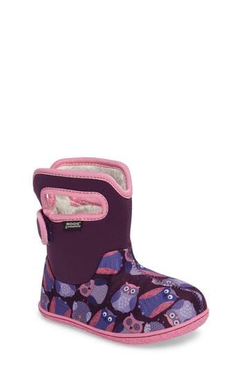 Girls Bogs Baby Bogs Classic Owls Waterproof Boot