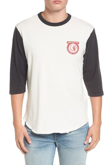 Brixton Washed Baseball T-Shirt, Blue