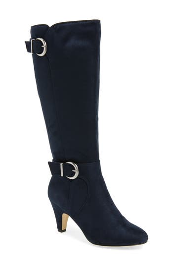 Bella Vita Toni Ii Knee High Boot, Wide Calf- Blue
