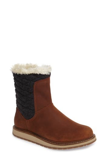 Helly Hansen Seraphina Waterproof Boot With Faux Fur Trim, Brown