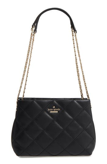 Kate Spade New York Emerson Place - Jenia Quilted Leather Shoulder Bag - Black