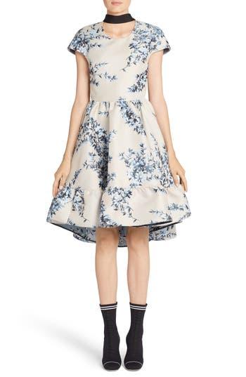 Fendi Floral Ramage Fit & Flare Dress, US / 42 IT - Blue