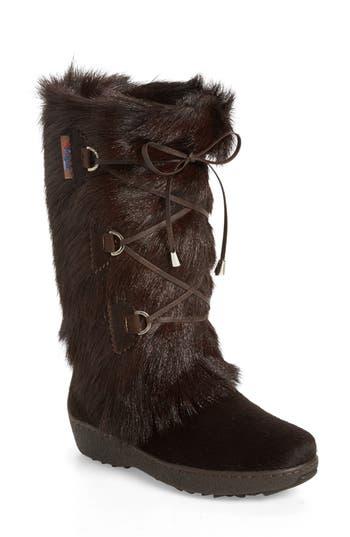 Pajar Davos Genuine Goat Fur Boot, Brown