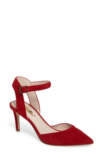 Louise Et Cie Kota Ankle Strap Pump, Red