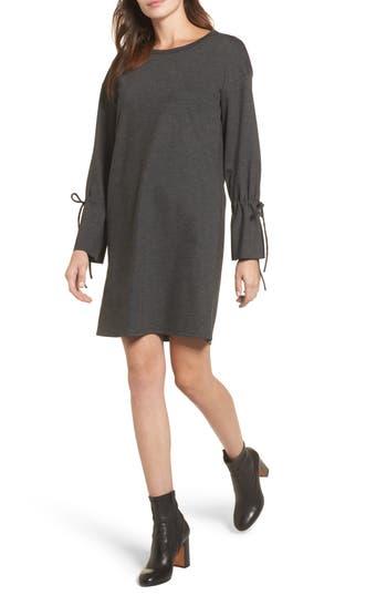 Halogen Cinch Cuff Shift Dress, Grey
