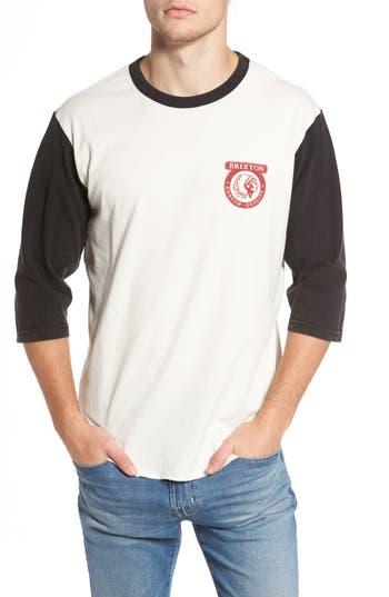 Brixton Washed Baseball T-Shirt, Ivory