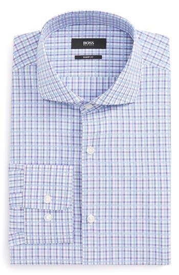 Men's Big & Tall Boss Mark Sharp Fit Check Dress Shirt