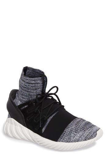Adidas Tubular Doom Primeknit Sneaker, Black