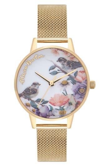 Women's Olivia Burton English Garden Mesh Strap Watch, 30Mm
