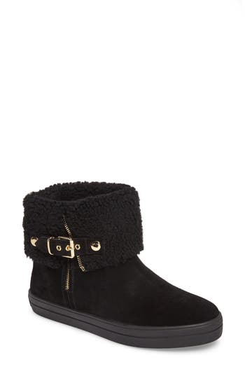 Burberry Genuine Shearling Boot, Black