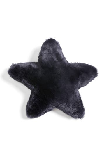 Nordstrom At Home Cuddle Up Faux Fur Star Pillow, Size One Size - Blue