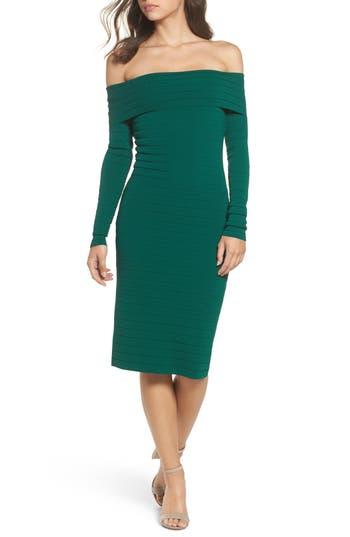 Eliza J Bandage Midi Dress, Green