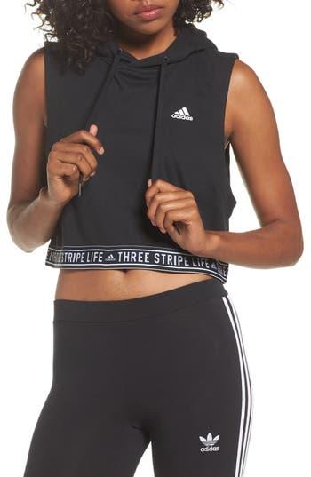 Women's Adidas 3-Stripes Life Crop Hoodie