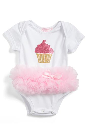 Infant Girls Popatu Cupcake Tutu Skirted Bodysuit