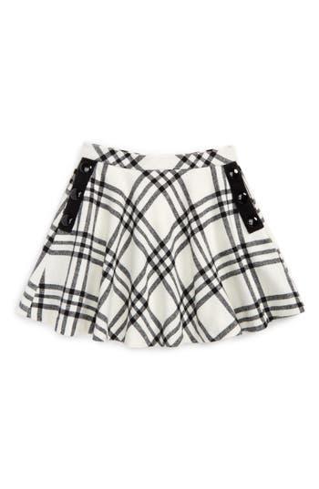 Girls Kate Spade New York Plaid Circle Skirt