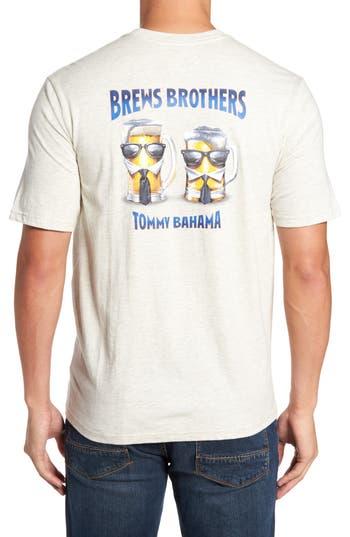 Tommy Bahama Brews Brothers T-Shirt, Grey
